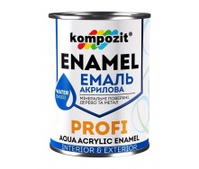 Эмаль акриловая Kompozit PROFI глянцевая 0,8 л серый