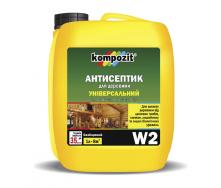 Антисептик трудновымываемый Kompozit W3 10 л