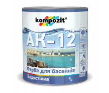 Краска для бассейнов Kompozit АК-12 полуматовая 10 л голубой