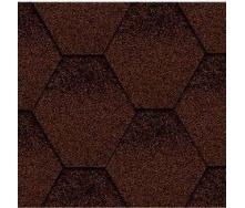 Битумная черепица Kerabit K Тройка коричнево-черная