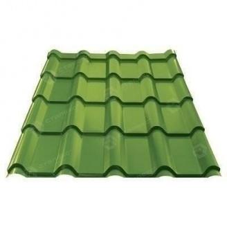 Металлочерепица Сталекс AFINA 350/18 0,45 мм РЕ Словакия (US Steel Kosice) (RAL6002/зеленый лист)
