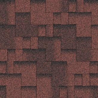 Битумная черепица Aquaizol Акцент 320х1000 мм красный эко