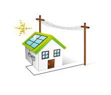 Сетевая солнечная станция 10 кВт, 3 фазы