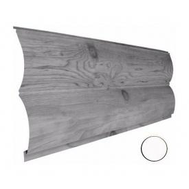 Металевий сайдинг Suntile Блок-Хаус Колода матовий 361/335 мм білий