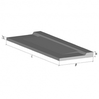 Плита балконная бетонная ТМ Бетон от Ковальской ПБК 27.12-5а 2690x1240x150 мм