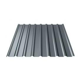 Профнастил Ruukki T20 Polyester matt 17,5 мм темно-сірий