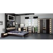 Спальня Мебель-Сервис София 3Д венге темное/венге светлое