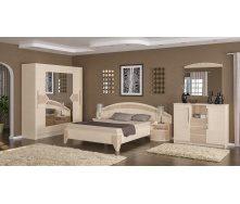 Спальня Мебель-Сервис Аляска дсп дуб молочный/капучино глянец