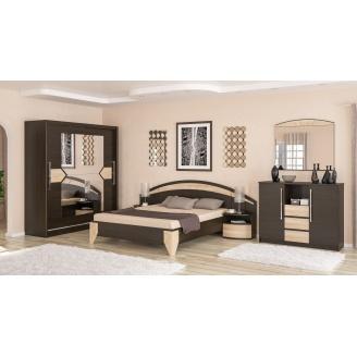 Спальня Мебель-Сервис Аляска венге темний/дуб молочний
