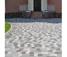 Тротуарная плитка Золотой Мандарин Старая площадь 160х40 мм серый