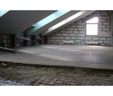 Устройство пола по бетонным плитам В25 80 мм с сеткой 5вр 150х150 мм