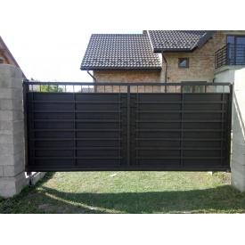 Ворота откатные с металлическим заполнением 1,8х4,2 м