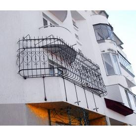 Металлическое огородженя балкона 12х12 мм