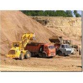 Доставка строительного песка машиной КАМАЗ 5511