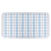 Коврик для ванны противоскользящий Trento Square синий