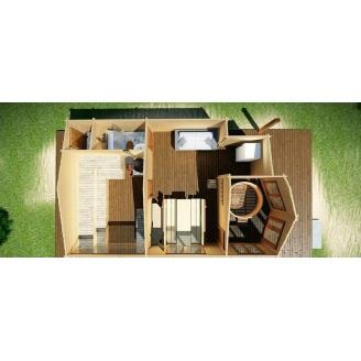 Будівництво дерев'яної лазні з профільованого бруса