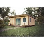 Дом по проекту SMART из сип-панелей 18 м2