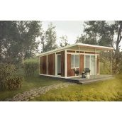 Строительство дома по проекту SMART из сип-панелей 27 м2