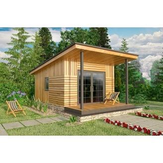 Дом по проекту SMART из сип-панелей 15 м2
