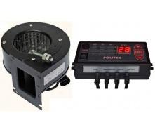 Комплект автоматики Polster C-11 з вентилятором NWS-75 для твердопаливного котла 80 Вт