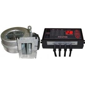 Комплект автоматики Polster C-11 с вентилятором WPA 117 для твердотопливного котла 34 Вт