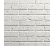 Гипсовый кирпич Травертин 00 6x20 см белый