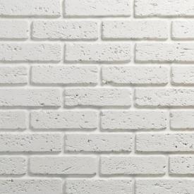 Гіпсовий цегла Травертин 00 6x20 см, білий