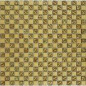 Мозаика шахматка рельефная 15x15 мм золотой песок