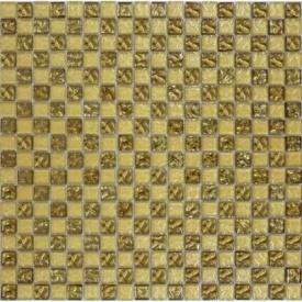 Мозаїка шахматка рельєфна 15x15 мм золотий пісок