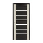 Дверне полотно Korfad Porto Combi Colore РС-02 40х800х2000 мм венге