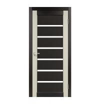 Дверное полотно Korfad Porto Combi Colore PС-02 40х800х2000 мм венге