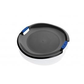 Санки-тарелка Plastkon Торнадо супер 54x8 см черные