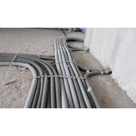 Монтаж кабеля сечением до 6 мм2 в гофртрубе