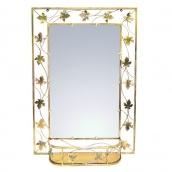 Зеркало с полкой ЛУКО БЕЛА большое 95x67 см (1092)