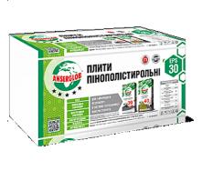Пенопласт ПСБ Anserglob EPS-30 1000x500 мм 5 см 6 м2
