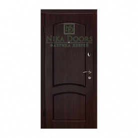 Броньовані двері Капрі-В 880х2040 мм темний горіх