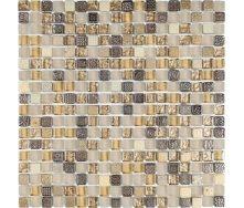 Мозаика мрамор стекло VIVACER 1,5х1,5 DAF22, 30х30 cм