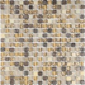 Мозаїка мармур скло VIVACER 1,5х1,5 DAF22, 30х30 см