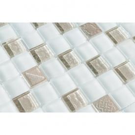 Мозаика мрамор стекло VIVACER DAF21, 30х30 cм