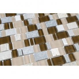 Мозаїка мармур скло VIVACER DAF106, 31х30 см