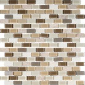 Мозаїка мармур скло VIVACER 1,5х3 DAF101, 30,5х30,5 см