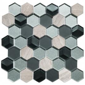 Мозаїка мармур скло VIVACER SB03, 4,8х5,5 см