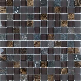 Мозаїка мармур скло VIVACER SYNmix02, 30х30 см