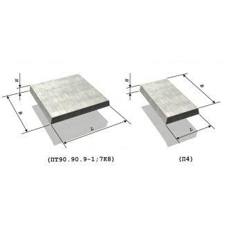 Плита тротуарная железобетонная 0,5х0,5х0,04 м