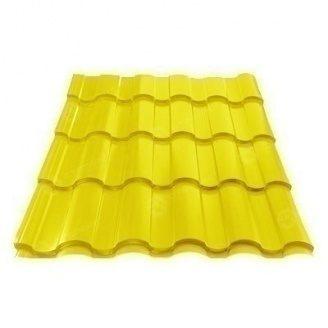 Металлочерепица Сталекс VALENCIA 350/15 0,45 мм PE Китай (Sutor Steel) (RAL1003/сигнально-желтый )