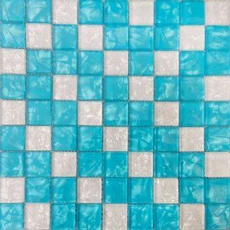 Мозаика VIVACER MIX BLUE, 30х30 cм