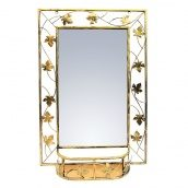 Зеркало с полкой ЛУКО БЕЛА малое 85x57 см (1093)