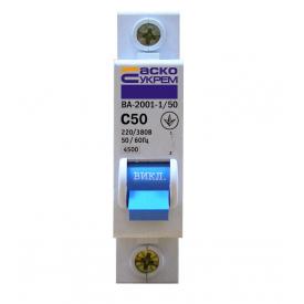 Автоматичний вимикач Аско ВА-2001 1p 50А