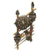 Часы на стену ЛУКО БАМБУК малые 72x32x7 см (1179)