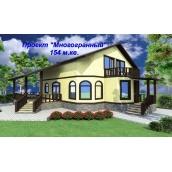 Проект каркасного дома из СИП-панелей Многогранный 154 м2